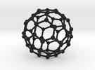 C60 Buckminsterfullerene model in Black Strong & Flexible