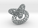 Voronoi knot in Polished Metallic Plastic