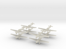Bf109t-350-wheels-x8 in Transparent Acrylic