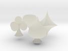 Spade, Club, Heart and Diamond in Transparent Acrylic