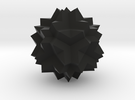 Great Dodecicosidodecahedron in Black Strong & Flexible