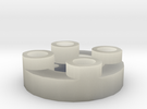 Sewable Disc Button - Base Design in Transparent Acrylic