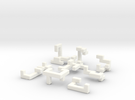 Switch Cube (1.5cm) in White Strong & Flexible Polished