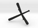 Tri-Bat Baseball Display in Black Strong & Flexible
