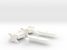 Polish Couplings 0e Scale (2 Pack) in White Strong & Flexible Polished