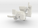 Medium Pixel Monkey in White Strong & Flexible