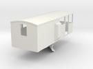 CIE Ballast Plow Brake Van OO Scale in White Strong & Flexible