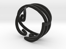 Swirly Elven Ring (size 9) in Black Strong & Flexible