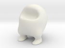 Fat Frankie (6cm) in White Strong & Flexible