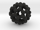 C60 - Buckyball - M in Black Strong & Flexible