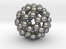 C60 - Buckyball - L - Steel in Raw Silver