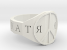 Ring_Peace in White Strong & Flexible
