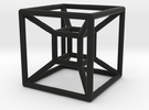 Hyper Cube 4D in Black Strong & Flexible