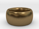 Ring Scaled 25 percent inner 33 percent outer in Raw Bronze