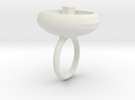 saskia ring wit in White Strong & Flexible