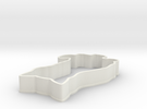 Cat Cookie Cutter in White Strong & Flexible