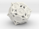 "D10 ""Spikes"" in White Strong & Flexible"