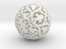 Moroccan Ball 7.3 in White Strong & Flexible
