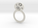 deel 1 ring met worm in White Strong & Flexible