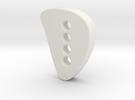 Designer button 3 in White Strong & Flexible