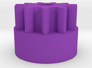 Reprap Wades Small Gear (Nopheads Version) in Purple Strong & Flexible Polished