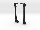 Femur Earrings in Black Strong & Flexible