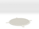 Fan Grill 120mm in White Strong & Flexible