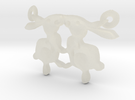 Bunny Pendant in Transparent Acrylic