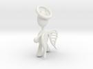 Angel Pendant in White Strong & Flexible