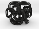 Crusty spiral cross cube in Black Strong & Flexible