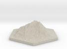 Catan_mountain_hexagon in Sandstone