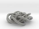 Prime Knot d4.122 in Metallic Plastic