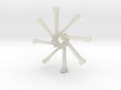 Nail Bracelet v2 in Transparent Acrylic
