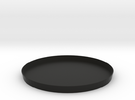pot.on.top drainage plate in Black Strong & Flexible