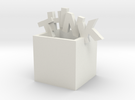 Think Outside the Box Sculpture in White Strong & Flexible