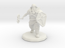 Dwarf Fighter (Large) in White Strong & Flexible