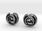 Love Song Cufflinks in Polished Silver