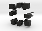 Void Floppy Cube V2 (3x3x1) in Black Strong & Flexible