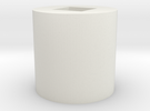 4.76 square tube to 12mm bearing adapter in White Strong & Flexible