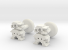 Plumber Cufflink in White Strong & Flexible