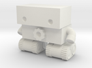 Robot 0025 Tank Tread Bot With Cog in White Strong & Flexible