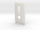 'Exclamation' 3GS Cover in White Strong & Flexible