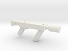 Sub Machine gun with Silencer in White Strong & Flexible