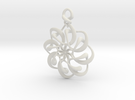 Twisted earring... or pendant in White Strong & Flexible