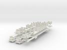 Plan U n-schaal (1:160) bodems met stoelen in White Strong & Flexible