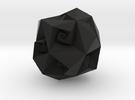 Twisted Rhombic Dodecahedron in Black Strong & Flexible