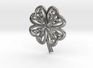 Celtic Shamrock in Polished Silver