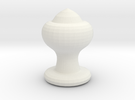 Chess Piece- Bishop in White Strong & Flexible