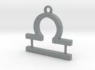 Zodiac Sign Libra Symbol Pendant (ver.1) in Polished Metallic Plastic