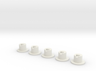 NL901 - LED socket 3mm set (H0) in White Strong & Flexible